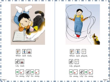 Reading Level C (Reading A-Z) Book with Picture Symbol Text Supports