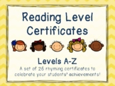 Reading Level Certificates, Rhyming
