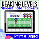 Reading Level Data Tracking Forms   Printable and Digital for Google Classroom™