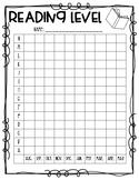 Reading Level Data Sheet