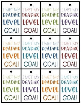 Reading Level Goal Brag Tags