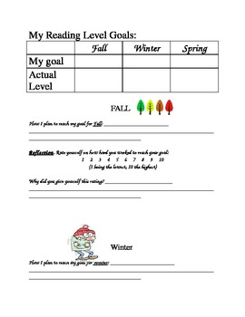 Reading Level Goal Setting