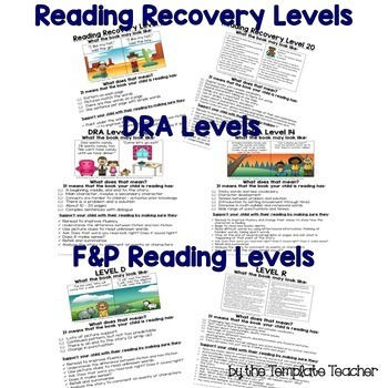 Reading Level Guide:Parent's Handbook for Leveled Books English & Spanish BUNDLE