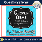 Reading Level Question Stems [Oral or Written Comp.]