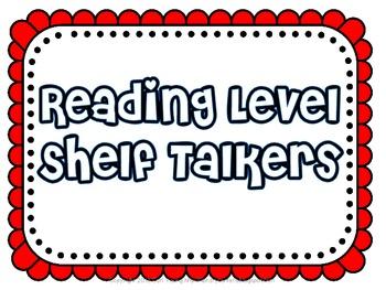 Reading Level Shelf Talker