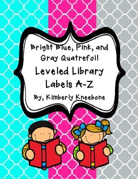 Reading Leveled Library Labels (A-Z) - Bright Turquoise, P