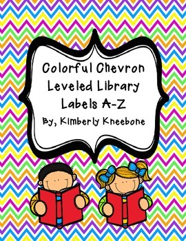 Reading Leveled Library Labels (A-Z) - Colorful Chevron