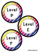 Reading Leveled Library Labels (A-Z) - Colorful Diagonal Stripes