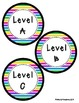 Reading Leveled Library Labels (A-Z) - Colorful Stripes