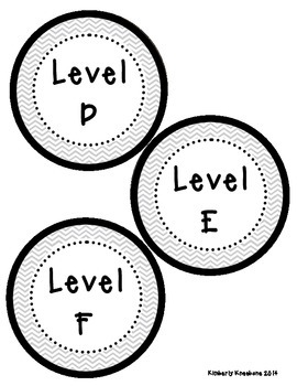 Reading Leveled Library Labels (A-Z) - Gray Chevron