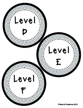 Reading Leveled Library Labels (A-Z) - Gray Quatrefoil