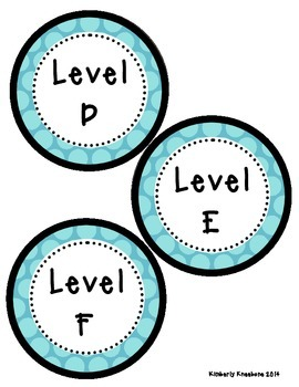 Reading Leveled Library Labels (A-Z) - Large Blue Polka Dots