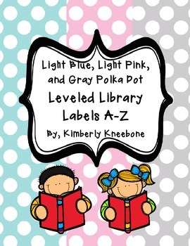 Reading Leveled Library Labels (A-Z) - Light Blue, Pink, a