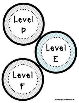 Reading Leveled Library Labels (A-Z) - Light Blue and Gray Chevron