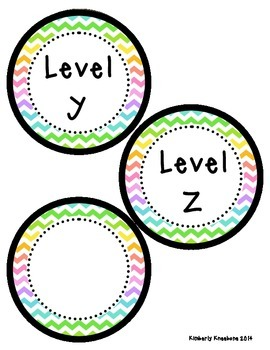 Reading Leveled Library Labels (A-Z) - Neon Chevron