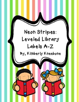 Reading Leveled Library Labels (A-Z) - Neon Stripes