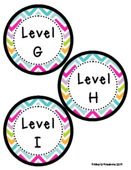 Reading Leveled Library Labels (A-Z) - Pretty Chevron