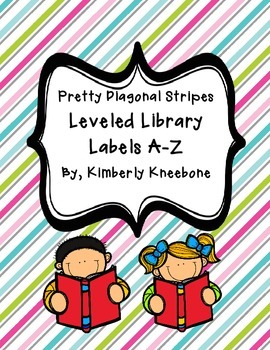 Reading Leveled Library Labels (A-Z) - Pretty Diagonal Stripes