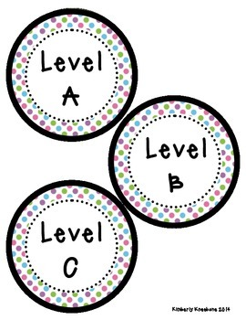 Reading Leveled Library Labels (A-Z) - Pretty Polka Dots
