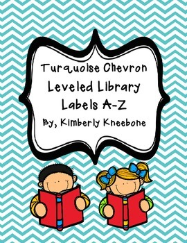 Reading Leveled Library Labels (A-Z) - Turquoise Chevron