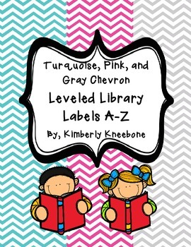 Reading Leveled Library Labels (A-Z) - Turquoise, Pink, an