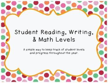Reading, Writing, Math Levls