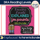 Reading Levels Explained for Parents DRA Bundle [Levels 1-70]