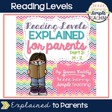 Reading Levels Explained for Parents [Levels M-Z]