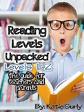 Reading Levels Unpacked: Levels L-Z