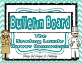 Reading Lexile Career Connection Bulletin Board~Turquoise Chevron Square Borders