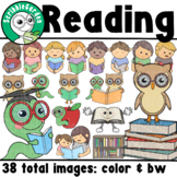 Library Reading ClipArt