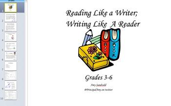 Reading Like A Writer, Writing Like A Reader! A Literacy Coaching Tool