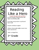 Reading Like a Hero Sample Non-Fiction Comprehension Passage  3rd Grade