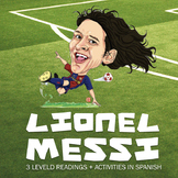 Lionel Messi - 3 leveled readings in Spanish