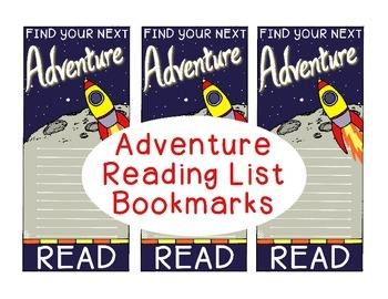 Reading List Bookmarks Summer Adventure Motivational Gift Space Mountains Ocean