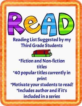 Reading List or Summer Reading List