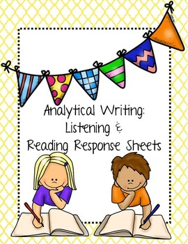 Reading Comprehension Response Sheets