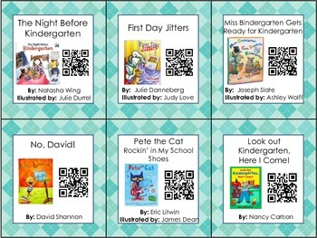 Reading Listening Centers Qr Code Cards - Back to School Theme