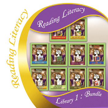 Reading Literacy Bundle - Library 1 - Crafts, Sentences and Activities