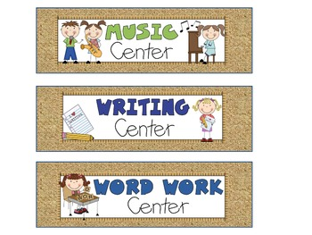 Reading Literacy Center Signs