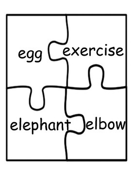 Reading / Literacy Centers: Vowels Puzzles
