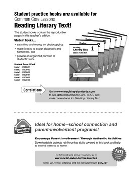Reading Literary Text, Grade 1 - Teacher's Edition, E-book