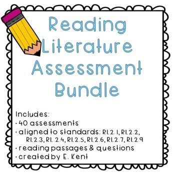 2nd Grade Reading Literature Assessment Bundle