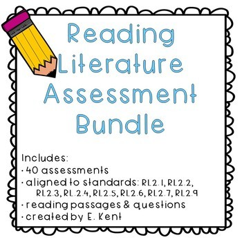 2nd Grade Reading Literature Assessment Bundle