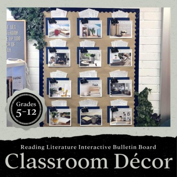 Reading Literature Challenge Interactive Bulletin Board: Classroom Decor
