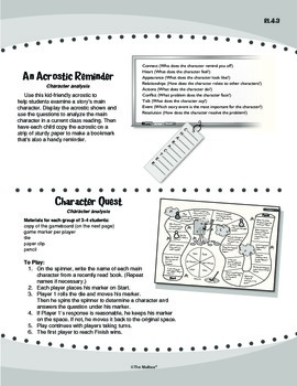 Reading Literature: Characters (Common Core RL.4.3)