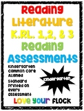 Reading Literature Common Core Assessments Kindergarten RL 1 2 & 3