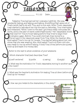 ELA Common Core Reading Literature Assessments-3rd