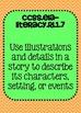 1st grade ELA Reading Literature Common Core Standards Posters