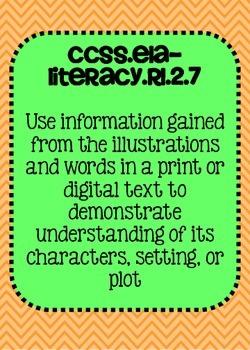 2nd grade ELA Reading Literature Common Core Posters